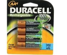 6X DURACELL AA RECHARGEABLE BATTERIES 2450 mAh 2450mAh 1.2V NiMH LOOSE FLAT PACK