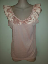 SIZE 10 - SIZE 12 WOMEN'S APRICOT PINK SLEEVELESS 'TEMT' TOP BNWT