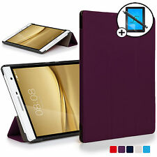 Purple Smart Case Cover Huawei MediaPad T2 7.0 Pro / M2 7.0 Scrn Prot Stylus