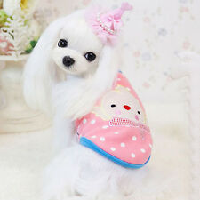 A Pet Dog Coat Vest Chick Pattern Puppy Winter Warm Clothes Jacket Apparel L