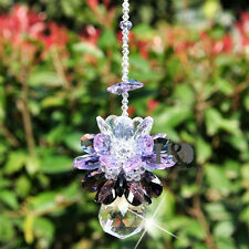Purple Ball Hanging Crystal Diamond Suncatcher Chakra Rainbow Feng Shui Prism