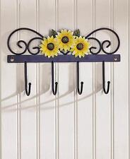 SUNFLOWER WALL HOOK TOWEL KEY RUSTIC ART COUNTRY KITCHEN HOME DECOR *MK8