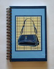 Spiral Notebook / Journal / Dairy - Blue Handbag Design