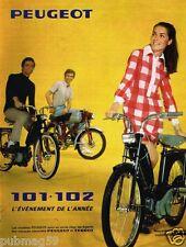 Publicité advertising 1968 Le mini cyclomoteur mobylette Peugeot 101 et 102