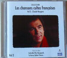 CLAUDE NOUGARO (CD) LES CHANSONS CULTES FRANCAISES VOL 3