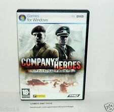 JEU PC COMPLET COMPAGNY OF HEROES OPPOSING FRONTS