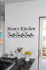 Personalized Kitchen Border Sign Wall Sticker Wall Art Vinyl Decals