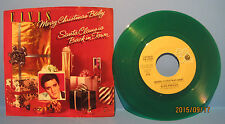 """Elvis Presley """"Merry Christmas Baby"""" RCA 45rpm on Green Vinyl w/ PS NM Cond."""