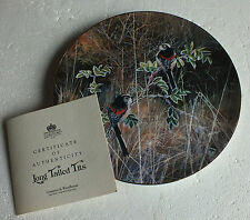 "Coalport plate "" Long tailed tits "" by David Feather Frosty Mornings Collection"