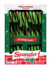 SPANGLER^ 12pc Candy Canes WATERMELON Flavored 6 oz Box HOLIDAY New! Exp. 2/19