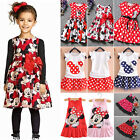 Toddler Kids Baby Girls Minnie Mouse Cartoon Skirt Tutu Summer Outfit Mini Dress