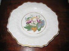 SUPER ENGLISH REGENCY PERIOD PLATE MOULDED FLOWERS LEAVES GREAT HP FRUIT