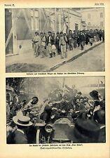 Il repubblicano Lisbona nel disturbo della libertà Jubel scena sul 1910