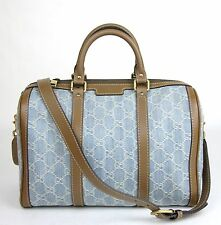 NEW Authentic Gucci GG Denim Joy Boston Bag Shoulder Strap 247205 8622
