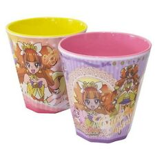 Japan Anime for Girl Princess Precure Twinkle Flora Mermaid 2 Cups Pink & Yellow