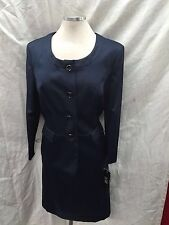 LESUIT SKIRT SUIT/NAVY/SIZE 14/LINED/NEW WITH TAG/SMOKE FREE/