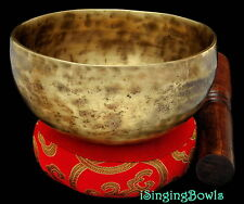 "New Tibetan Singing Bowl: Cup 5 1/4"", Contemporary, F#+6 & C1049. VIDEO"