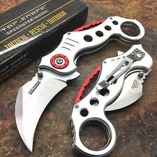 TAC FORCE Silver Spring Assisted Karambit Style Tactical Fantasy Pocket Knife