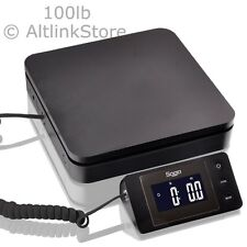 SAGA 100 LB X 0.1 oz DIGITAL POSTAL SCALE for SHIPPING WEIGHT POSTAGE W/AC 45 KG