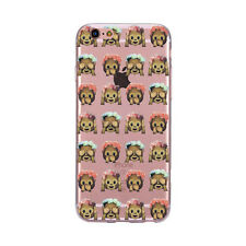 Funny Smile Emoji Clear Poop Pattern Soft TPU Case Cover For iPhone SE 5 6s Plus