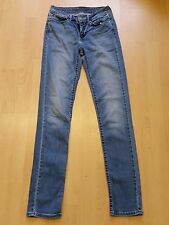 X585 WOMENS LEVI STRAUSS DEMI CURVE SLIM FIT STRETCH BLUE JEANS UK 8 W27 L32
