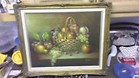 Framed Oil Painting~ Still-life~ Fruit~ Signed 'Parney'