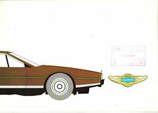 Aston Martin Lagonda circa 1978-79 Original UK Sales Brochure