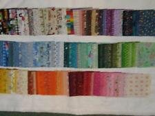 "Lot of 450 different  5"" fabric squares - cotton-quilting"