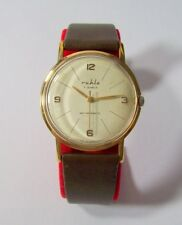 ruhla vintage DDR Herrenuhr Handaufzug 7 Jewels hand winding gents watch GDR