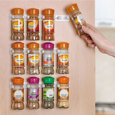 20 Clip Kitchen RV Spice Gripper Strip Jar Rack Storage Holder Wall Cabinet Door
