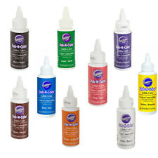 9 Wilton Dab-N-Color for Cake Stamps Decorating Sugar Sheets Fondant Gum Paste
