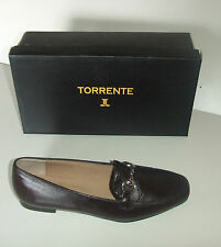 TORRENTE CHAUSSURES PLATES EN CUIR POINTURE 40 MARRON
