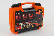Fox NEW Micron MR+ Icom Remote Red Bite Alarm Presentation Set *3 Rod* - CEI138