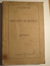 University of Michigan Calendar 1879-1880 / Studentika