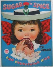 Vintage 1958 Sugar n Spice and Everything Nice Coloring Book
