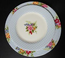 Target Shabby Chic Style Melamine Plate Set Floral Check Pattern 12 Plates Total