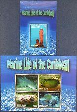 St. Vincent Union 2013 Meerestiere Fische Fishes Hai Muräne 674-77 + Bl.50 MNH