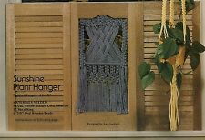 GM19 Country Window Shutter Curtain Plant Hanger Patterns Macrame Mischief Book