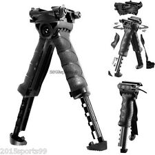 Quick release Mount Swivel Rifle Bipod Foldable Foregrip Picatinny Rail Rotaing