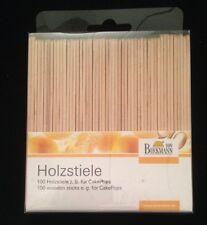100 x Holzstiele RBV Birkmann für CakePops Lebensmittelecht