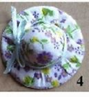 Floral Hat Dolls House Miniature , Dolls Clothing & Accessories