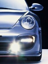 Porsche 997 Turbo GT2 SMOKED LED DRL turn signal lights