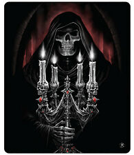 Anne Stokes Candelabra Blanket Polar Fleece Throw Gothic Bedding Grim Reaper New