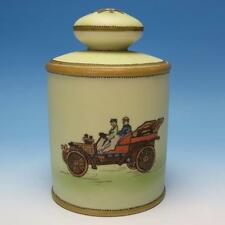 Nippon Porcelain Humidor - Hand Painted Antique Touring Automobile - circa 1915