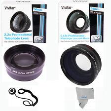 52MM Wide Angle & 2.2X Telephoto Lens for NIKON D5500 D5000 FE2 D3100 D3300 D300