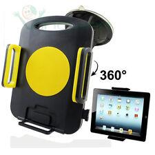 Supporto auto regolabile ventosa per  iPad 1 2 3 4 retina Mini 360° giallo US6