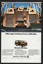 1982 VOLKSWAGEN VANAGON GL VAN VW Station Wagon - All Seats 1st Class VINTAGE AD