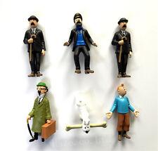 6pcs/Set The Adventures of Tintin Snowy Captain Haddock Thompson PVC Figure