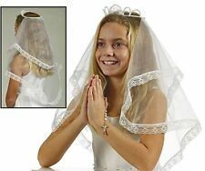 Crown of Pearls First Communion Veil (BS119) NEW
