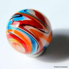 25mm Muliti-Layer Swirl Glass Art Toy Marble & Stand - Handmade Collectors Piece